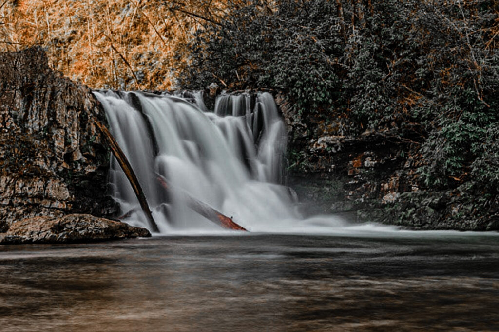 Abrams Falls is a great sight all year round but especially in the Fall season!