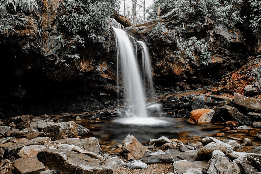 Grotto Falls is breathtaking in Gatlinburg! This waterfall emcompasses a pass through behind the falls creating one of the most memorable experiences when exploring Gatlinburg!