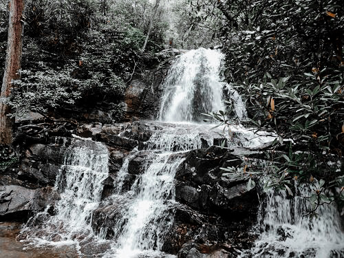 This multi=level waterfall is stunning and a must-see in Gatlinburg!