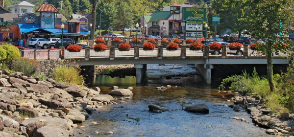 The Little Pigeon River In Gatlinburg Tennessee On October 6 2013